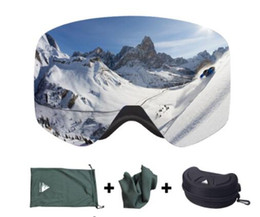 Wholesale Snow Ski Goggles Glasses - Brand Ski Goggles With Case Double Lens UV400 Anti-fog Ski Snow Glasses Skiing Men Women Winter Snowboard Eyewear HB108