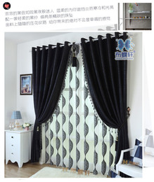 Wholesale Black Exterior Doors - Thick black and white chenille curtains upscale modern bedroom, living room curtain fabric