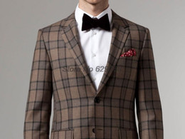 Canada Checked Grey Suits For Men Supply, Checked Grey Suits For ...