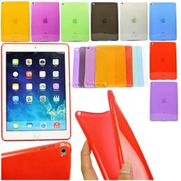 Wholesale Tablet Cases Slim - TPU Silicone Rubber Matte Pure Color Case Cover For Apple ipad air 2 Tablet protector Slim