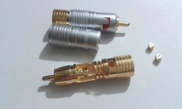Wholesale Soldering Plate - 4 pcs Gold Plated Nakamichi Pure Copper RCA Non solder plug Connector