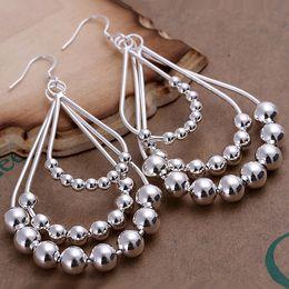 Wholesale Beaded Chandelier Earrings - Brand new sterling silver Singlet beaded earrings DFMSE189,women's 925 silver Dangle Chandelier earrings 10 pairs a lotfactory