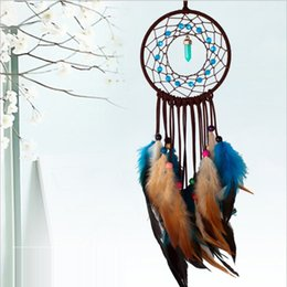 Wholesale Vintage Antique Cars - Vintage Enchanted Forest Indian Dreamcatcher Wind Chimes Indian Style Feather Pendant Dream Catcher Gift Wall Decoration Ornamen