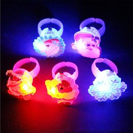 Wholesale Toys For Mens - Christmas Style Creative Women Mens Ring Luminous Rings for Children Toy Ring Glow In The Dark Rings Jewelry Party Accessories