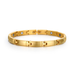 Wholesale Gold Bracelets For Health - Cute bracelet magnetic health pulceras for women 18k gold filled fashion jewelry