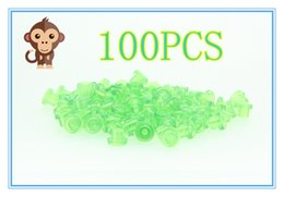 Wholesale Color Grommets - 100PCS Soft green color T Type Tattoo Grommet For Needle Machine Supply 2100408-4