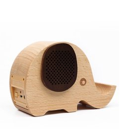 Wholesale Mobile Bluetooth Speaker System - Elephant Shaped Wooden Wireless Bluetooth Speaker for iPhone 6 5S Samsung Galaxy S6 S5 Note4 Wooden Fashionable Wireless Speaker System