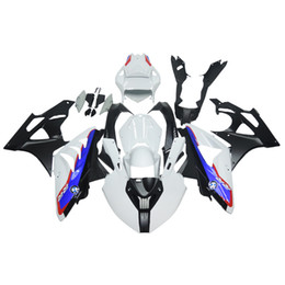 Wholesale Motorcycle Cover Plastic - Injection Racing ABS Fairings For BMW S1000RR 11 12 13 14 ABS Plastic Motorcycle Fairing Kit Body Covers Motorcycle Frames White Blue Carene