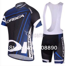 Wholesale Cheap Team Jersey Sets - ORBEA Team Blue Cycling Jersey Cheap Custom Cycling Wear for Men Cycling Clothing with Shorts Sets Hot Sale C011
