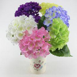 Europäische Pastoralen Stil Weiß Künstliche Seide Blume Stoff Hortensien Bouquet Für Hochzeit Dekorationen 2015 Neue Ankunft von Fabrikanten