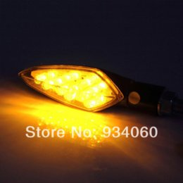 Wholesale Amber Led Light Turning Indicator - 4pcs slot x 16 LED Motorcycle Motorbike Turn Signals Indicators Blinker Amber Light M11154 Headlights Cheap Headlights