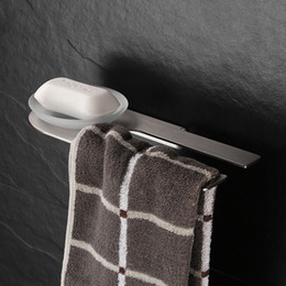 Wholesale Paper Racks - Wall Mounted Stainless Steel Soap Dishes Soap Holder With Towel Bar Towel Rack Paper Brush Nickel Orb Bathroom Accessories