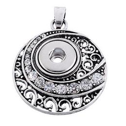Wholesale Vintage Heart Buttons - Vintage silver Noosa Pendant Necklace Charm chunks snap button jewelry DIY Necklace Snap Button Bracelet Interchangable Jewelry
