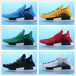 Wholesale Bowling Fashion - 2018 Human Race Men Women Running Shoes Fashion Cheap Human Race Top Quality Sports Shoes Size 36-45 Free Shipping With Box