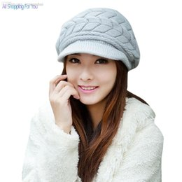 Wholesale Discount Candy Wholesalers - Wholesale-Big Discount Women's Autumn Winter Cotton Knitted Cap Knitted Hat Double Layer hats for women 6 Candy Colors 34