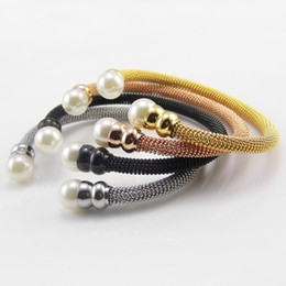Wholesale Pearl Jewelry Manufacturers - love Vintage pearl bangle bracelets bangles jewelry titanium for women 18k gold filled stainless steel luxury bangle manufacturer in india