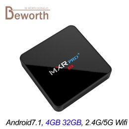 Wholesale Mini Pc Ram 4gb - 4GB 32GB TV Box Android 7.1 RK3328 Quad Core MXR Pro Plus Smart Mini PC 4K 3D KD17.3 Media Player 2.4G 5G Wifi Set Top Box 4G RAM 32G ROM