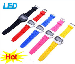 Wholesale Cool Watch Bands Women - Cool Mens Watches LED Electronic Force Digital Sports Plane Wristwatch Silicone Band Military Watches For Women Men