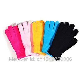 Wholesale Cheap Warm Gloves - Wholesale-2015 New Iglove Touch Screen Gloves Female Winter Autumn Warm Gloves Fashion Luvas For Women Men Cheap Wholesale Free Shipping