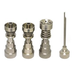 Wholesale Universal Plates - Titanium Dab Nail Universal 6 in 1 Dish Plate Dab Rig Nail Male & Female Joint Nails