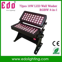 Wholesale Auto City - Wholesale-Free shipping 72*10W LED RGBW IP65 outdoor waterproof double head led wall washer light led city color light