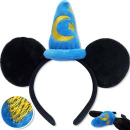 Wholesale Mice Ears Headband - mouse ears headband hoop dance festival Children mouse ears headband baby headband Christmas birthday party supplies NO4