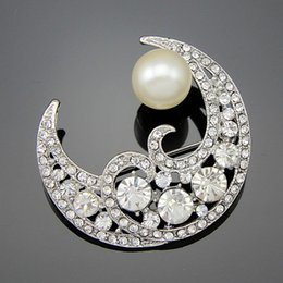 Wholesale Gorgeous Opal - Free postage 2016 new high-grade gorgeous rhinestone alloy buck wild pearl brooch brooch bags, clothing, jewelry, scarves