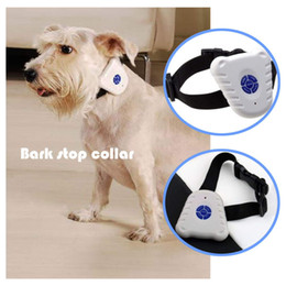 Wholesale Ultrasonic Anti Bark - Wholesale-1pcs High Quality Ultrasonic Dog Anti Bark No Stop Barking pet Control Collar Train Training Device Promotion!