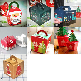 äpfel einpacken papier Rabatt Weihnachtsschmuck Weihnachten Apple Geschenk Box Äpfel Xmas Eve Apple Wrapping feste Baum Bells Red Cupcake Box Muffin Papier 8 * 8 * 15.5CM