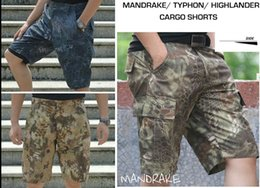 Wholesale Combat Cargo Shorts - Tactical Mandrake Typhon Grain Printing MANDRAKE BDU Force Combat Cargo Shorts Casual half Pants MAYFLOWER for Hunting Army Trousers Kryptek