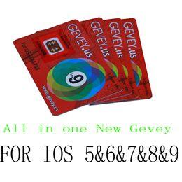 Wholesale Gevey Sim 4g - Gevey Sim Unlock Card Perfect unlock For iphone 6S 6 plus 5S 5C 5G 4S IOS9 IOS 9 9.1 8 7 GSM CDMA WCDMA 4G 3G 2G gevey Sim unlock r sim 10