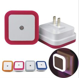 glückliche katze leuchtet Rabatt US Mini LED 0.5W Nachtlicht Auto Sensor Baby Schlafzimmer Lampe quadratisch AC 110-220V