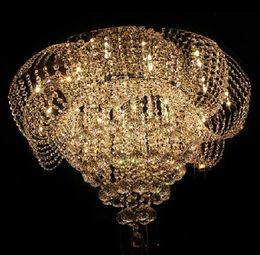 Canada Livraison gratuite lotus design flush cristal plafonniers lustres décoration de maison nouveauté éclairage cheap led crystal lotus Offre