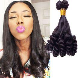 Wholesale Virgin Hair Usa - 8A Unprocessed Aunty Funmi Hair Free Shipping To USA UK Romance Bouncy Curls 3Pcs Virgin Human Hair Funmi Hair Extension