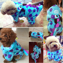 Wholesale Cold Dresses - petcircle hot pet cat dog clothes in cold winter visual blue dragon g parkas for yorkshire dog outfit freeshipping