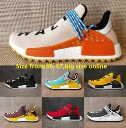 Wholesale Cotton Discount - NMD Human Race Pharrell Williams Hu NMD_TR Shoes Sports Running Shoes discount Athletic mens Outdoor Boost Training Sneaker Size 36-47