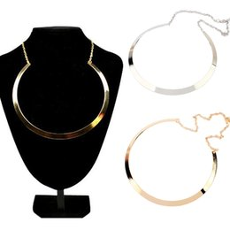 Wholesale Metal Shapes For Jewelry Making - Fashion Making simple shape metal texture collar necklace 2014 New necklace Jewelry For women A2410