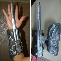 Wholesale Neca Assassins Creed Gauntlets - IN STOCK 1:1 NECA Assassins Creed Hidden Blade Brotherhood Ezio Auditore Gauntlet Replica Cosplay Christmas Gift Toys
