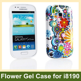 Wholesale Galaxy S3 Tpu Gel - Wholesale Chrysanthemum Flower Print Soft TPU Gel Cover Case for Samsung Galaxy S3 Mini i8190 Free Shipping