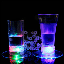 Wholesale Club Bamboo - Wholesale- Hot Selling1 Pcs LED Colorful Change Light Up Drink Cup Mat Tableware For Bar Club Party
