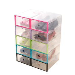 Wholesale Transparent Shoe Storage Boxes Wholesale - Shoe Storage Box Case Transparent Plastic Storage Box Rectangle PP Shoe Organizer Thickened drawer Shoe Box