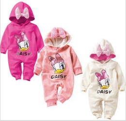 Wholesale Clothes Characters Baby - 2015 Baby romper Baby Girl Clothing Cotton Character Thicken Girl Daisy Romper Infant Toddler Jumpsuit Children Climbing Clothes