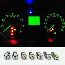 Wholesale T5 Dash Lights - LED Car Lights Bulb T5 3020 5-SMD 27 70 73 74 2721 Ash Tray LED Light Bulb Dash Gauge Instrument LED Bulbs Light