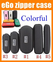 Wholesale Ego Ce5 Box - Colorful eGo zipper case electronic cigarette carry case leather pouch e cig carrying case e-cigarette bag e cig box for ce4 ce5 mt3 FJ003