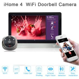 Wholesale Visions Apartments - New Door viewer ihome4 for apartment security,night vision wifi door bell camera video door phone super long standby time