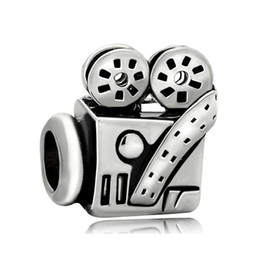 Wholesale Pandora Lucky Charm - Fashion women jewelry European style vintage projector metal spacer bead lucky charms fits Pandora charm bracelet