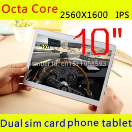 Wholesale 32 Gb Tablets - Wholesale-10 inch 8 octa core core 2560 x 1600 IPS DDR 4 GB ram 32 GB 8.0mp 3 G WCDMA + GSM dual sim Tablet PC tablet PCs android4.4 7 9