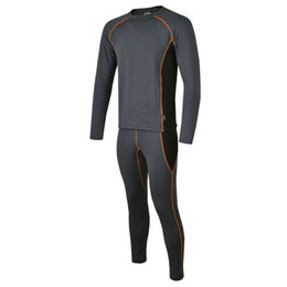 Wholesale Outdoor Thermal Underwear - Wholesale-2015 NF Brand Winter Mens Outdoor Sport Thermal Underwear FLASHDRY Base Layer Long Johns Fleece Running Cycling Clothing M-XXL