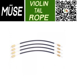 Wholesale Violin Tailpiece Wholesale - Wholesale-MUSE 4 4 Violino Tailpiece Tail Guts Old Style Parts 4 4 Violin Part