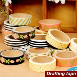 Wholesale Tape Decorative Stickers - 8 pcs Lot Paper tapes Tree art Drafting tape washi masking decorative adhesive tape scrapbooking tools stickers Stationery 6467